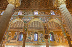 Palermo - Mosaic of Cappella Palatina Stock Photos