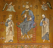 Palermo - Mosaic of Jesus Christ from Cappella Palatina - Palatine Chapel in Norman palace Stock Photo