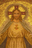 Palermo - Mosaic of Jesus Christ from church Convento Dei Carmelitani Scalzi Royalty Free Stock Photos
