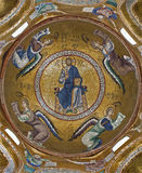 Palermo -Mosaic of Jesus Christ from cupola of church Santa Maria dell' Ammiraglio Royalty Free Stock Photography