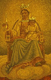Palermo - Mosaic of Madonna from church Convento Dei Carmelitani Scalzi Royalty Free Stock Photography