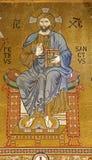 Palermo - mosaico de Jesus Christ de Cappella Palatina fotografia de stock