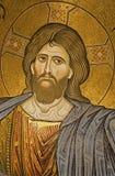 Palermo - mosaik av Jesus Christ från huvudsaklig absid av den Monreale domkyrkan. Royaltyfri Bild