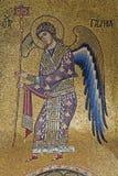 Palermo - Mosaik des Erzengels Gabriel von der Kirche von Santa Maria-dell Ammiraglio Stockbilder