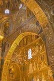 Palermo - Mosaik von Cappella Palatina - Palatine-Kapelle im normannischen Palast lizenzfreies stockfoto