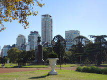 Palermo neighborhood in Buenos Aires. BUENOS AIRES - MARCH 30: Park of the Palermo neighborhood in a sunny day on March 30, 2013 in Buenos Aires Royalty Free Stock Images