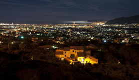 Palermo Night. Panoramic view of Palermo from Monreale Entertainment stock photography