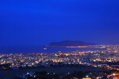 Palermo night cityscape, Sicily Royalty Free Stock Photos