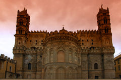 Palermo norman cathedral. In sicily island Royalty Free Stock Photo