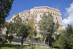Palermo - Norman palace or  Palazzo Reale Stock Photos