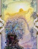 Palermo - Nowożytny fresk Ostatni osądzenie Zdjęcie Royalty Free