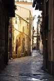 Palermo old city street scape. Old buildings in the city centre Stock Photography
