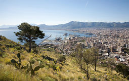 Palermo - outlook over city and harbor Royalty Free Stock Photography