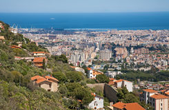 Palermo - outlook over the town from Monreale royalty free stock image
