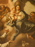 Palermo - Paint of Madonna with child from church Santa Maria la Nuova Royalty Free Stock Photography