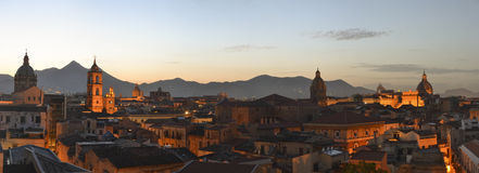 Palermo panorama. Beautiful panoramic look over the city of Palermo Stock Photography