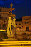 Palermo piazza liberta square by night. Sicily, Italy Royalty Free Stock Photo