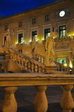 Palermo piazza liberta square by night. Sicily, Italy Stock Images