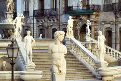 Palermo, Piazza Pretoria Royalty-vrije Stock Afbeelding