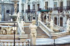 Palermo, Piazza Pretoria Royalty Free Stock Photos