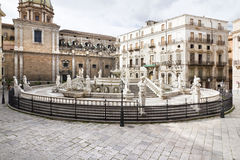 Palermo, Piazza Pretoria Royalty Free Stock Photo