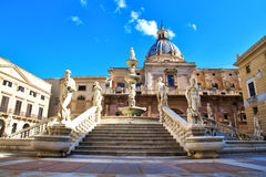 Palermo, Piazza Pretoria Stock Photo