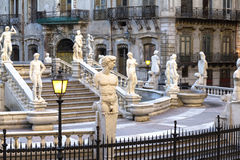 Palermo, Piazza Pretoria Royalty Free Stock Images