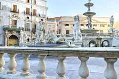 Palermo, Piazza Pretoria Stock Photography