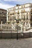 Palermo, Piazza Pretoria Stock Images