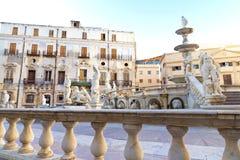 Palermo, Piazza Pretoria. Also known as the Square of Shame, Piazza della vergogna royalty free stock photo