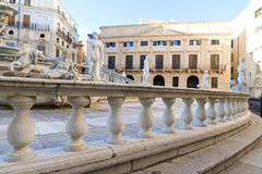 Palermo, Piazza Pretoria Royalty Free Stock Image