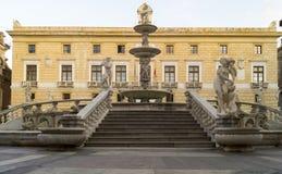 Palermo, Piazza Pretoria Royalty Free Stock Photography