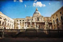 Palermo, plaza Pretoria fotografía de archivo libre de regalías