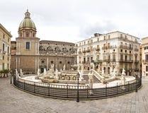 Palermo, praça Pretoria imagens de stock