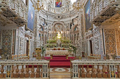 Palermo - Presbytery of baroque church Chiesa di Santa Caterina Royalty Free Stock Photos
