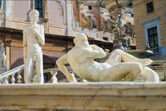 Palermo Pretoria fountain Royalty Free Stock Images