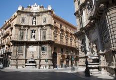 Palermo, Quatro canti - Fotografia Royalty Free