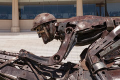 Palermo Racecourse sculpture close-up, Buenos Aires Royalty Free Stock Photos