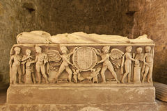 Palermo - Relief from one of the medieval tombs under cathedral Stock Photo