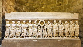 Palermo - Relief from one of the medieval tombs under cathedral Royalty Free Stock Image