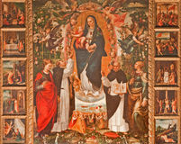 Palermo - Renaissance paint of Madonna (1540) by Vincenzo degli Azani in St. Dominic church. Royalty Free Stock Images