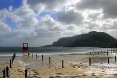 Palermo, Romantic winter seascape stock images