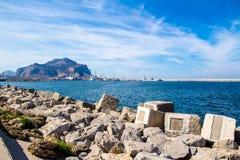 Palermo& x27;s promenade, in sicily, Italy royalty free stock photo