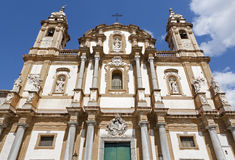 Palermo - Saint Dominic baroque church Stock Photos