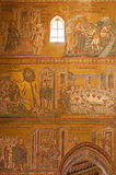 Palermo - Scene from Jesus life in mosaic from Monreale cathedral. Stock Images
