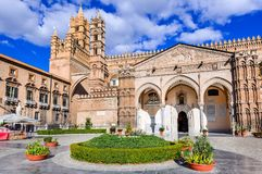 Palermo, Sicília, Italy Norman Cathedral imagem de stock royalty free