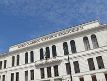 Palermo, Sicili?, Itali? 11/04/2010 Vittorio Emanuele II Schrijver uit de klassieke oudheid royalty-vrije stock afbeeldingen
