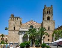 Palermo Sicilien/Italien: Juni 25, 2005: Domkyrkan av Monreale arkivbilder
