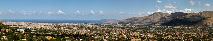 Palermo, Sicily from Monte Caputo Royalty Free Stock Image