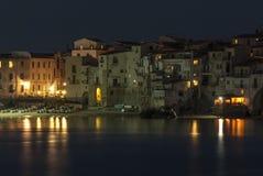 ¹ Palermo Sizilien Italien Europa cefalà Nacht der perspektivischen Verkürzung Lizenzfreie Stockfotografie